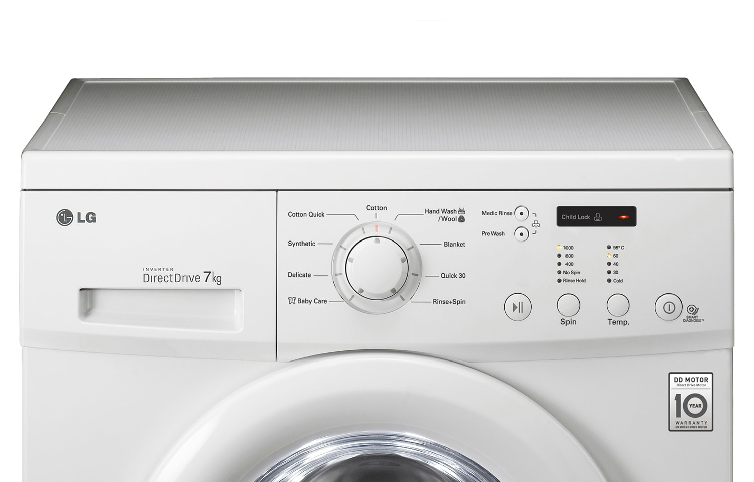 lg 7kg 6 motion direct drive front load washing machine lg malaysia. Black Bedroom Furniture Sets. Home Design Ideas