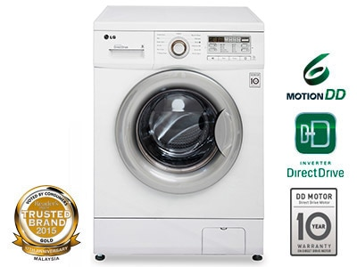 wdmd7500wm lg 75kg 6 motion direct drive front load washing machine