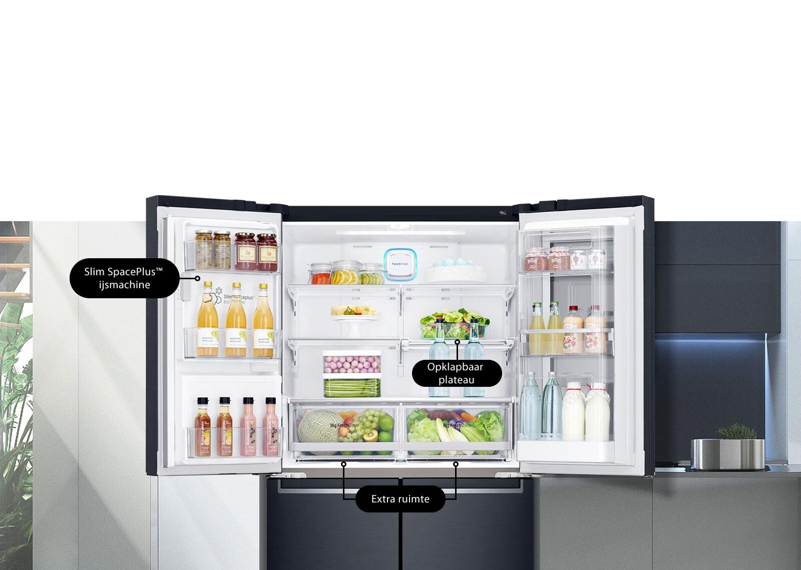 Lg amerikaanse koelkast gmk9331mt door in door u2013 electrokampioen