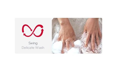 Schommelen delicate wasgoedbehandeling