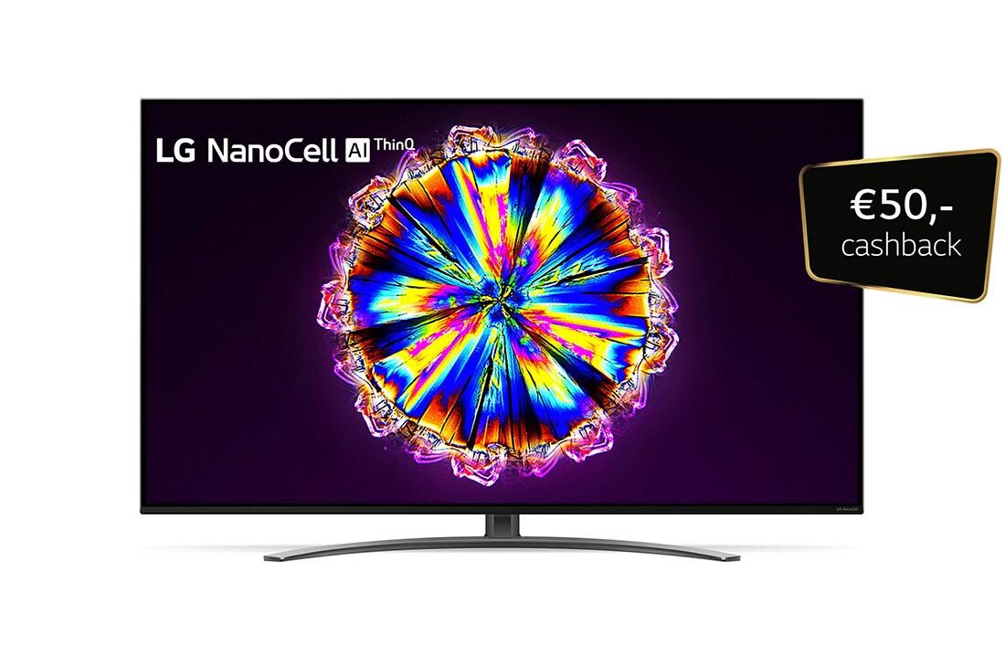 LG 4K NanoCell TV, vooraanzicht met schermvulling, 49NANO866NA