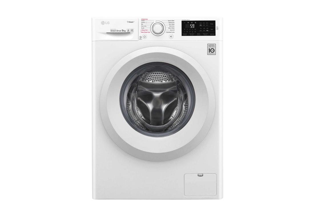 LG F4J5VY3W : 1 9 kg Spa Steam & NFC, 6 Motion Direct Drive