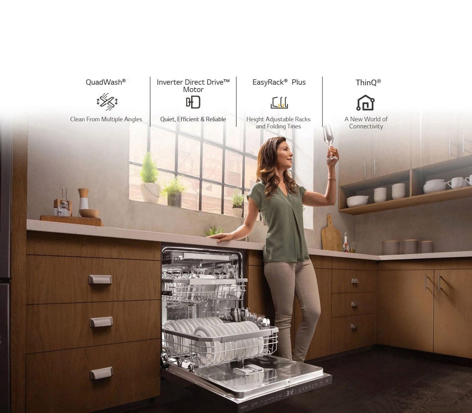 Four Reasons to Own an LG QuadWash® Dishwasher1