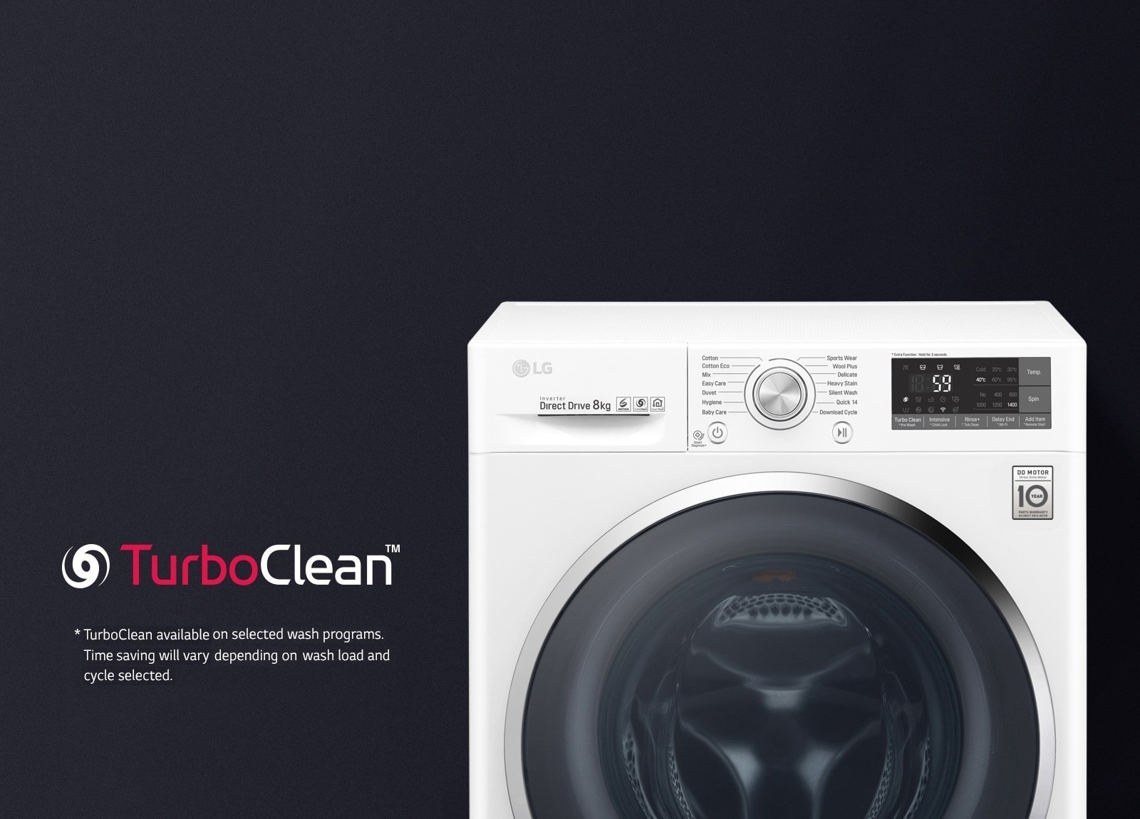 Lg 8kg Front Load Washing Machine With Turboclean Lg New Zealand