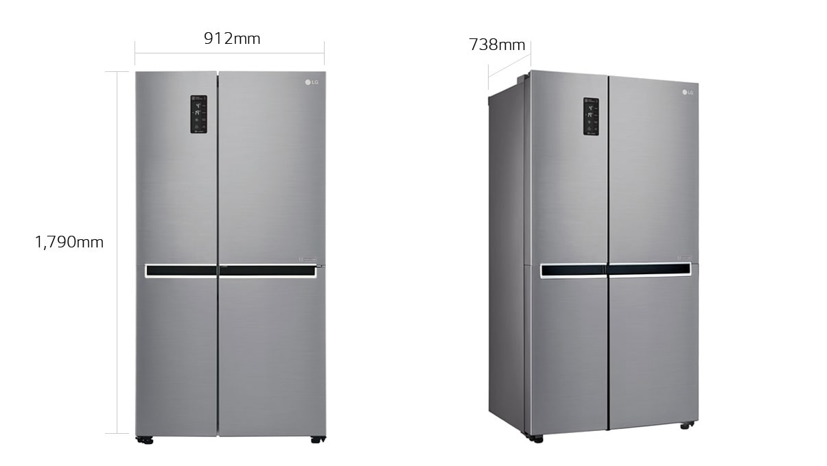 Lg Gs B680pl 687l Side By Side Refrigerator Lg Newzealand
