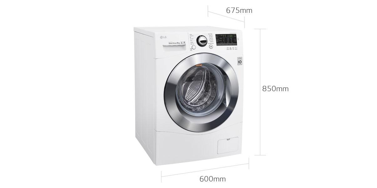 standard dimensions of washing machine