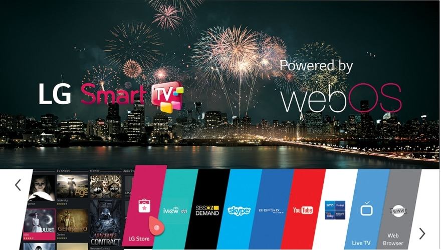 Smart TV, powered by webOS