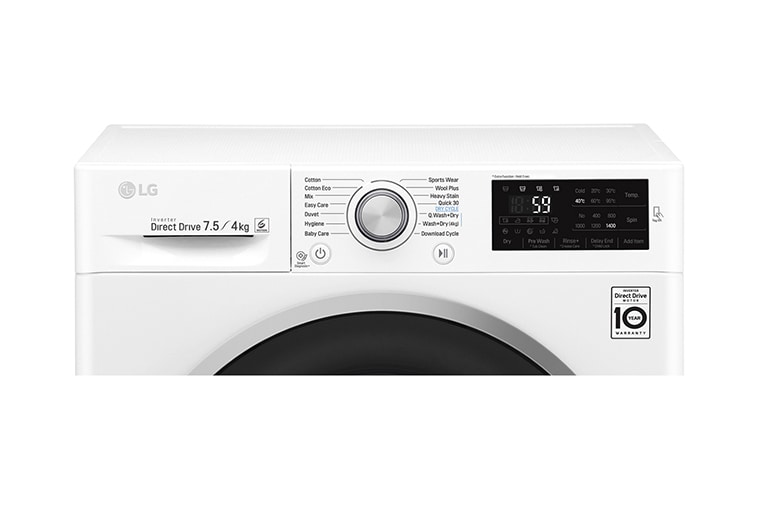Lg 7 5 4kg Front Load Washer Dryer Combo With 6 Motion