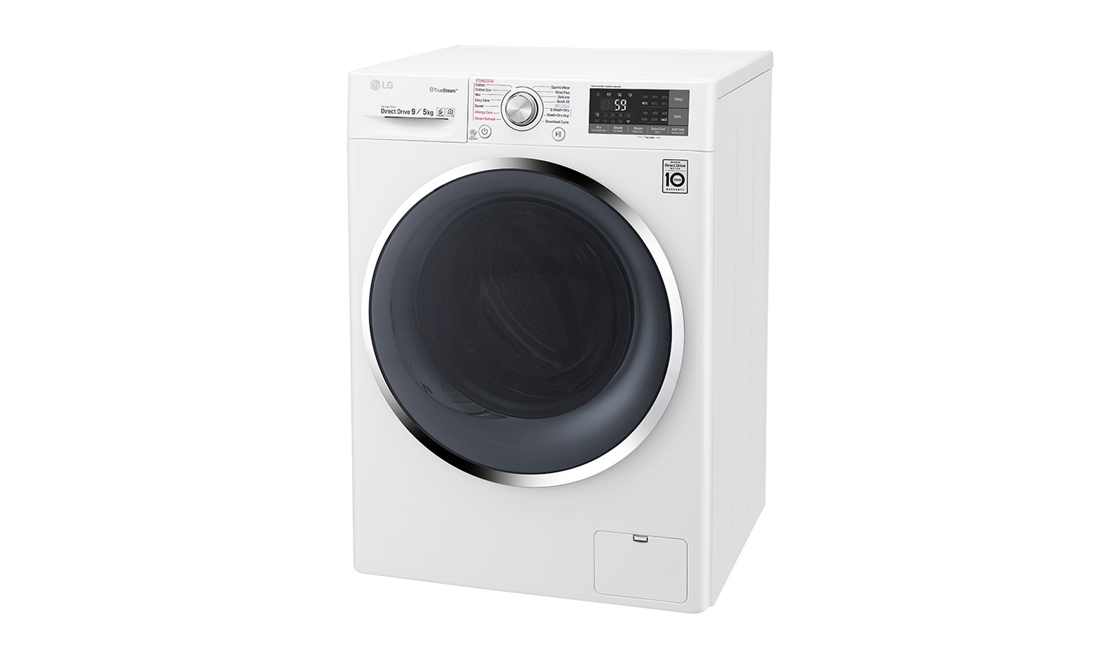 LG 9kg/5kg Front Load Washer Dryer Combo with TrueSteam® | LG New Zealand