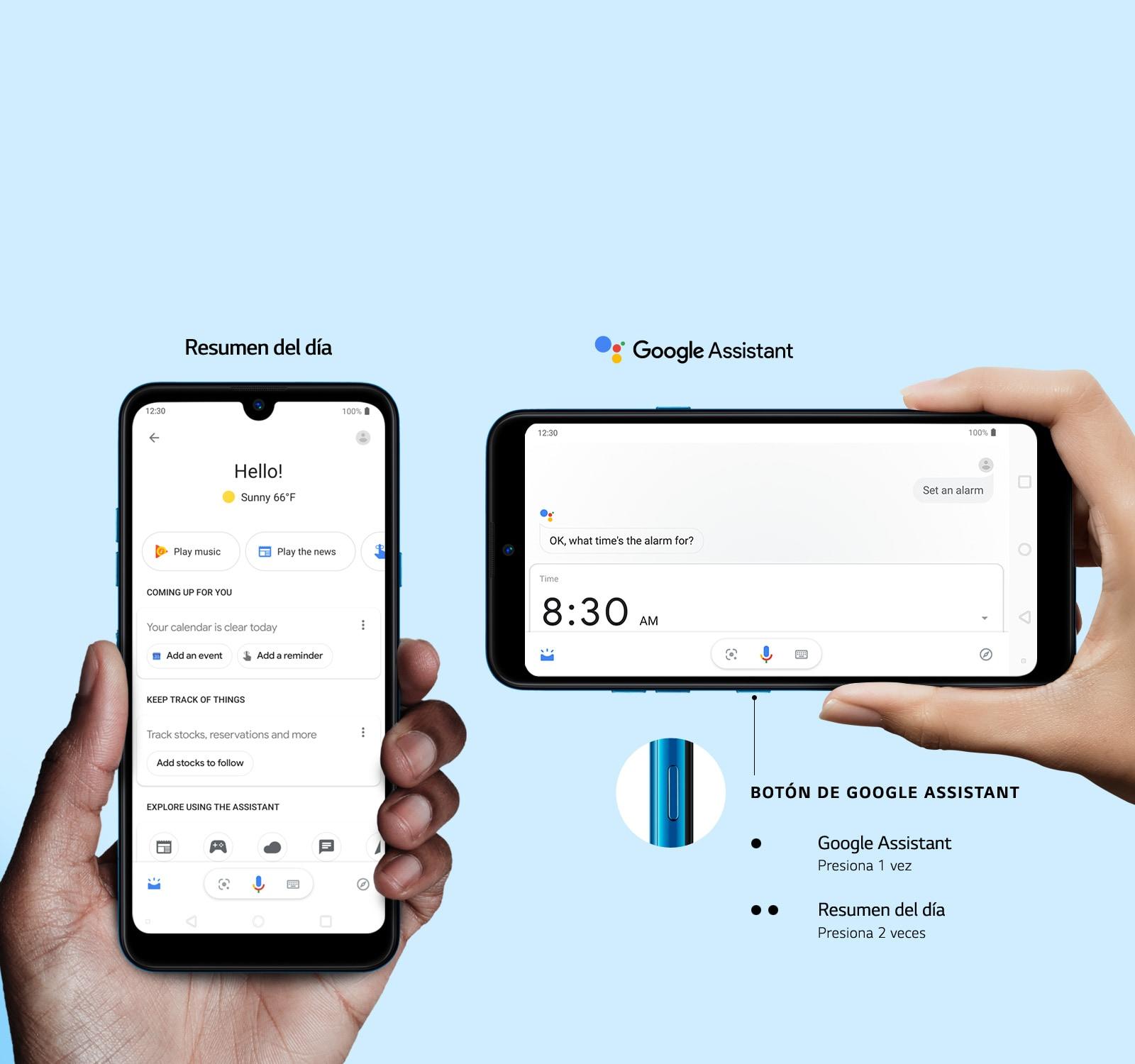 LG K50 - Botón de Google Assistant