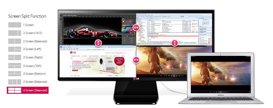 4-Screen Split Software