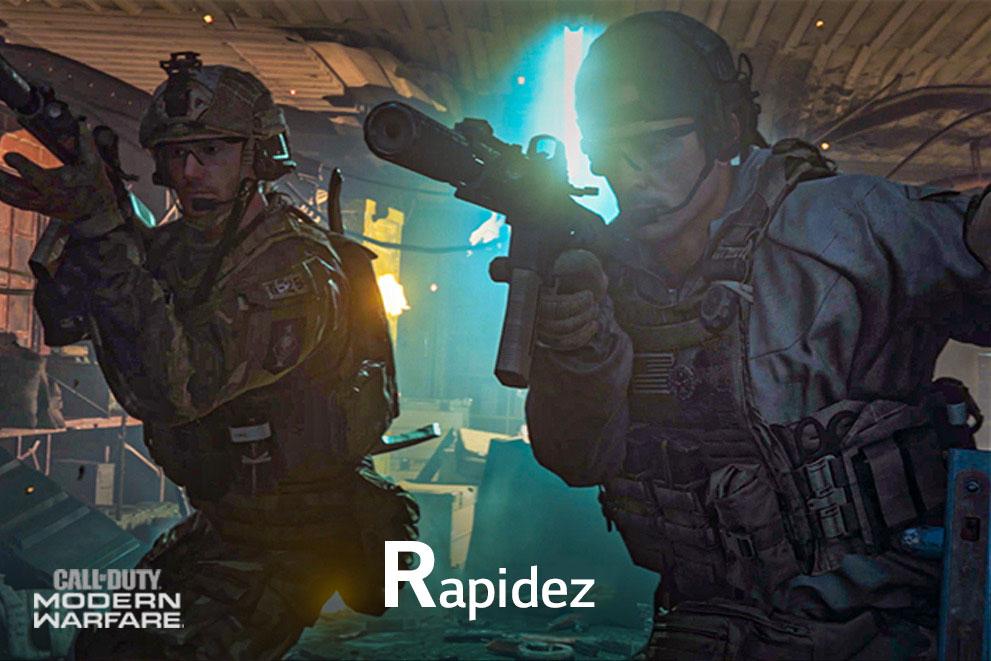 """Una escena del juego Call of Duty que dice """"Veloz"""""""
