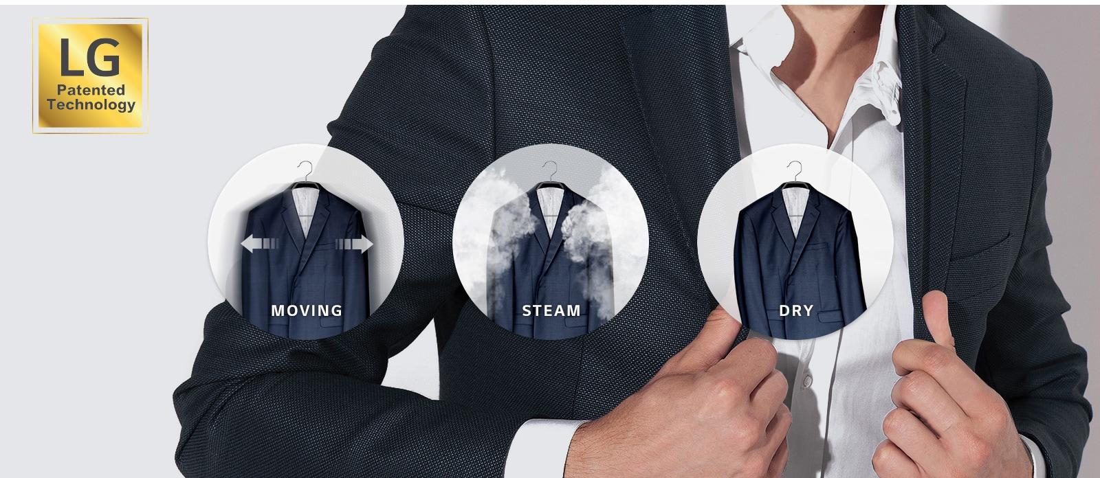 Moving Hanger x TrueSteam™ Clothing Care