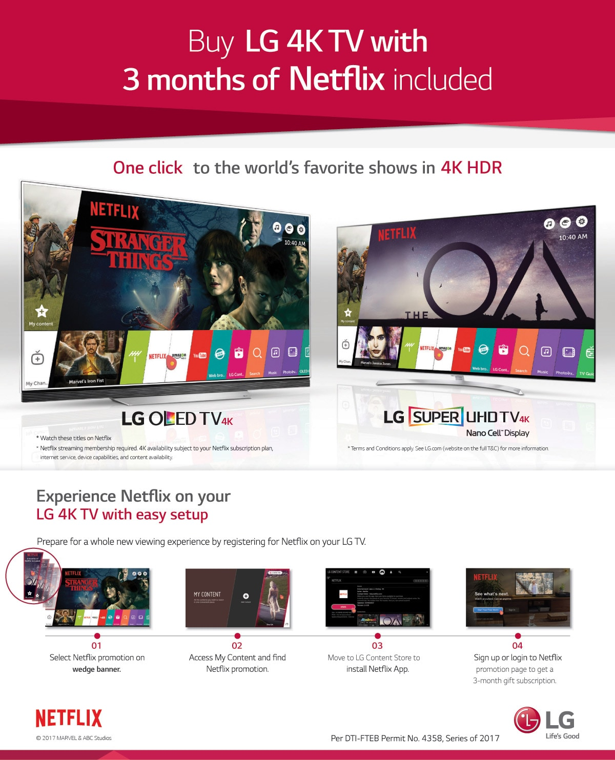ENJOY FREE 3 MONTH NETFLIX SUBSCRIPTION WITH LG TVs