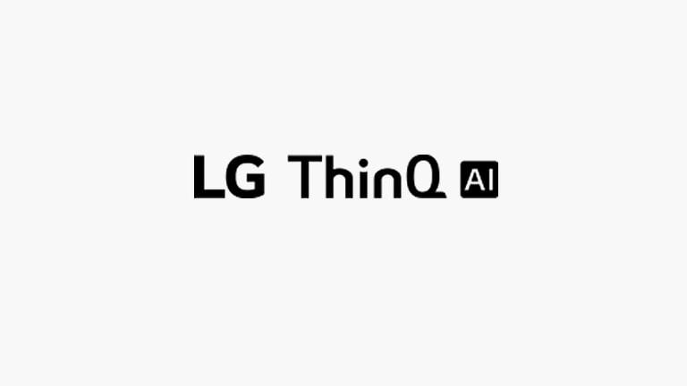 Ta karta opisuje polecenia głosowe.<br>Logo LG ThinQ AI.