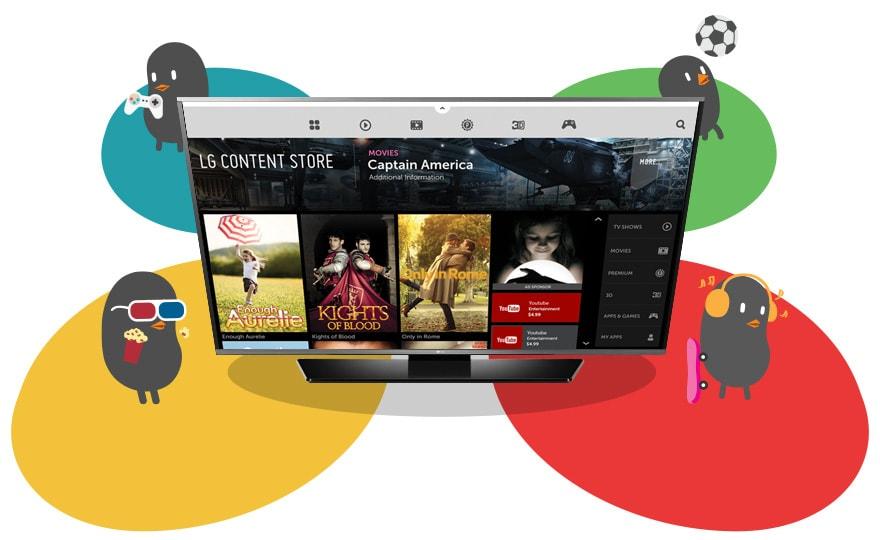 Сайт LG Content-магазин