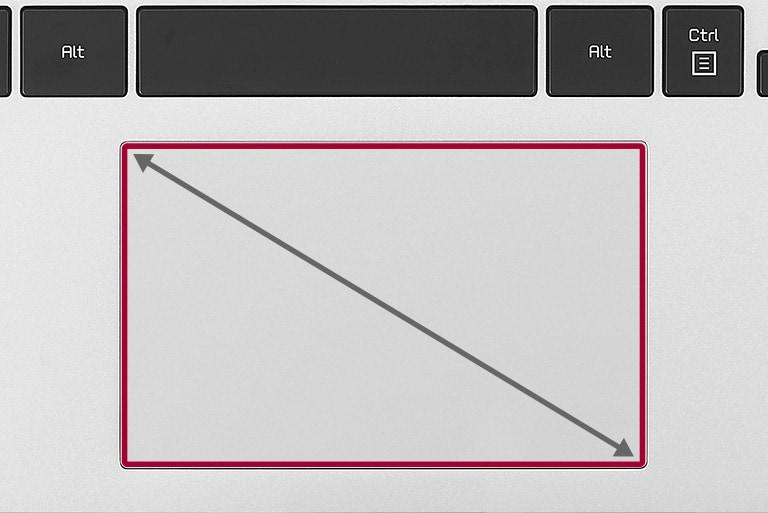 Poszerzony touchpad o proporcjach 16:10 odpowiadający kształtowi ekranu