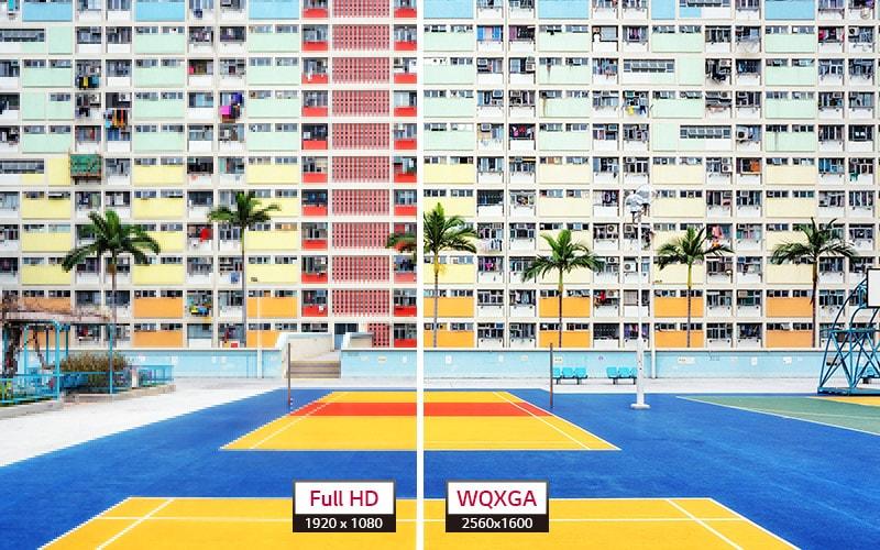 Porównanie rozdzielczości Full HD 1920x1080 i WQXGA 2560x1600