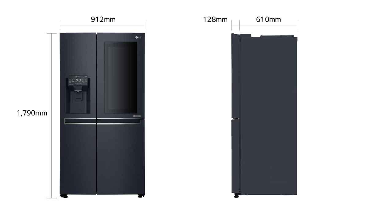 lg frigor fico side by side instaview door in door lg portugal. Black Bedroom Furniture Sets. Home Design Ideas