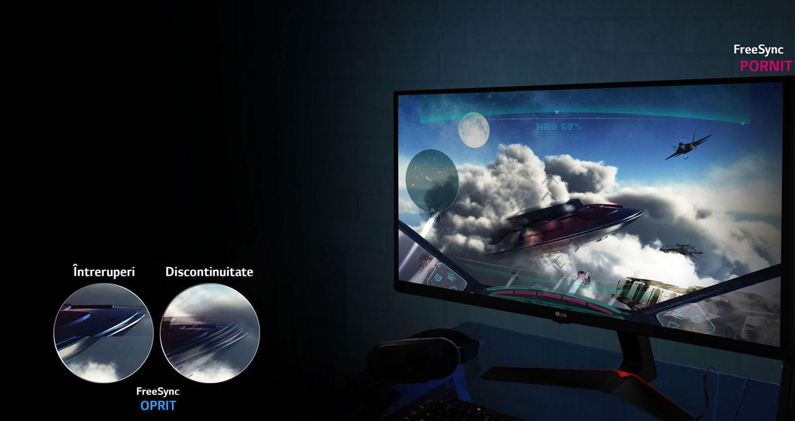 Mișcare fluidă: Tehnologia AMD FreeSync™ <br>1