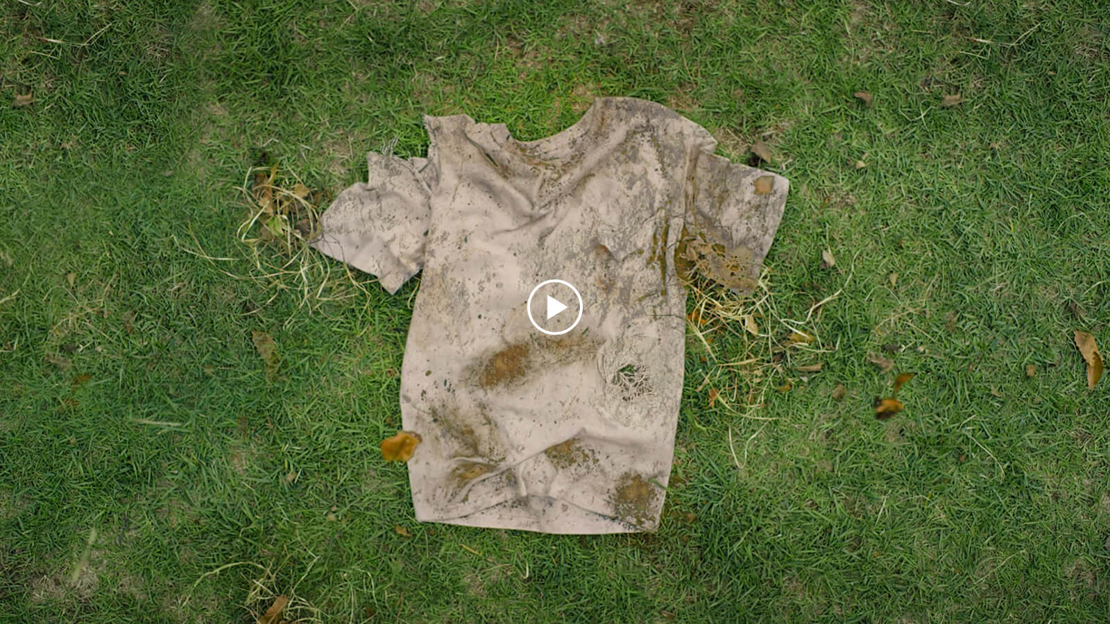 Thumbnail image of the video that dirty and deformed t-shirt is on the ground.