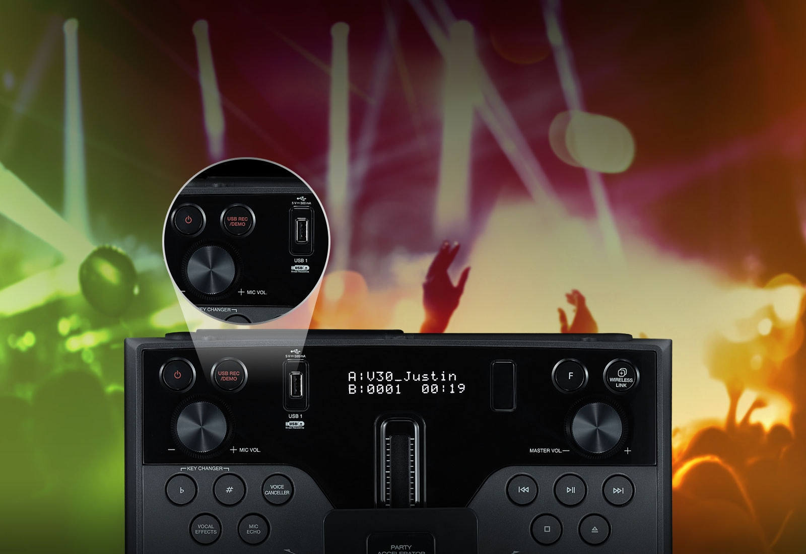 Два USB-разъема с функцией DJ Sharing<br>1
