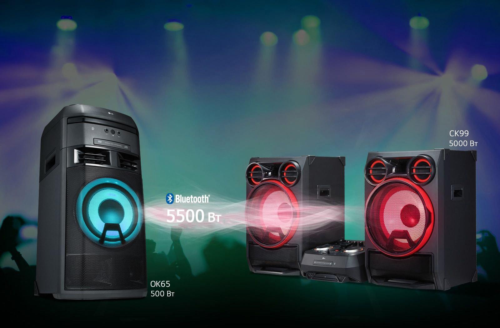 Аудиосистема LG XBOOM - функция беспроводного объединения устройств