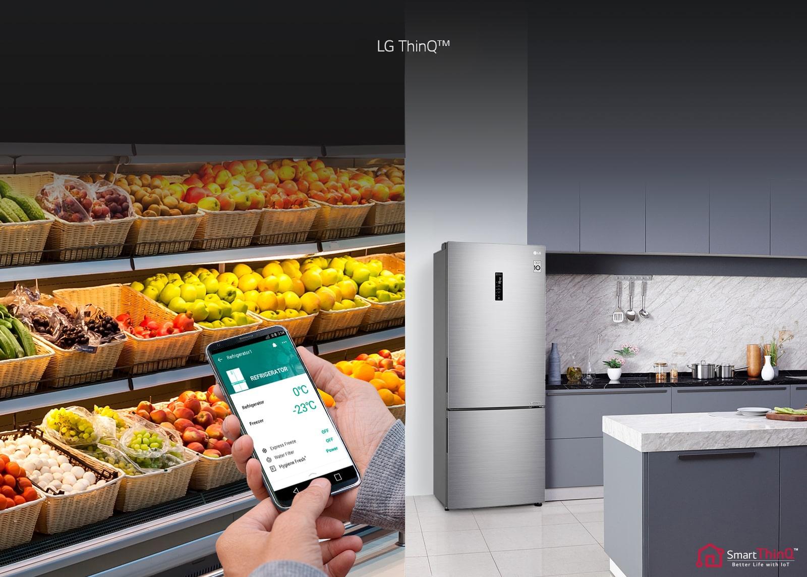 LG GC-B569PMCZ Умный контроль холодильника