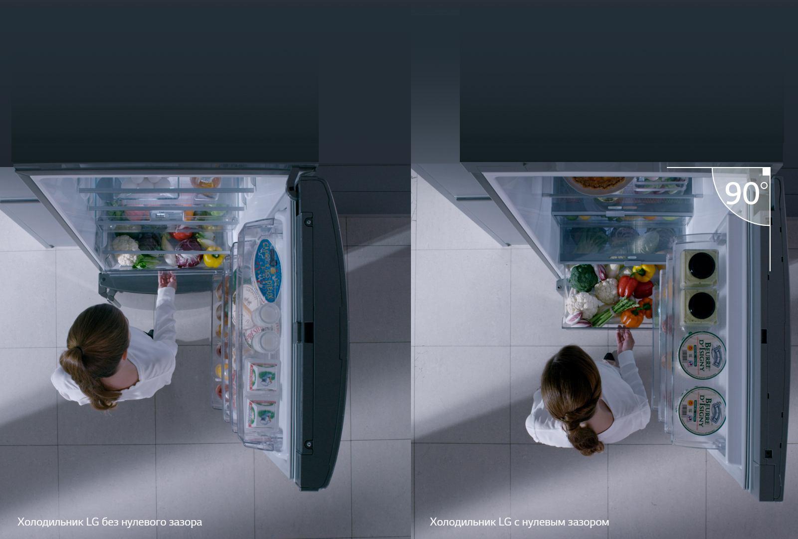 LG DoorCooling+ Нулевой зазор