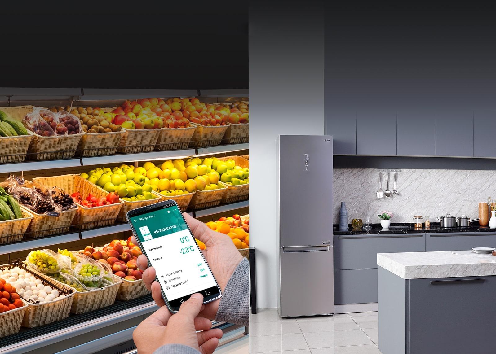 LG Умный контроль холодильника