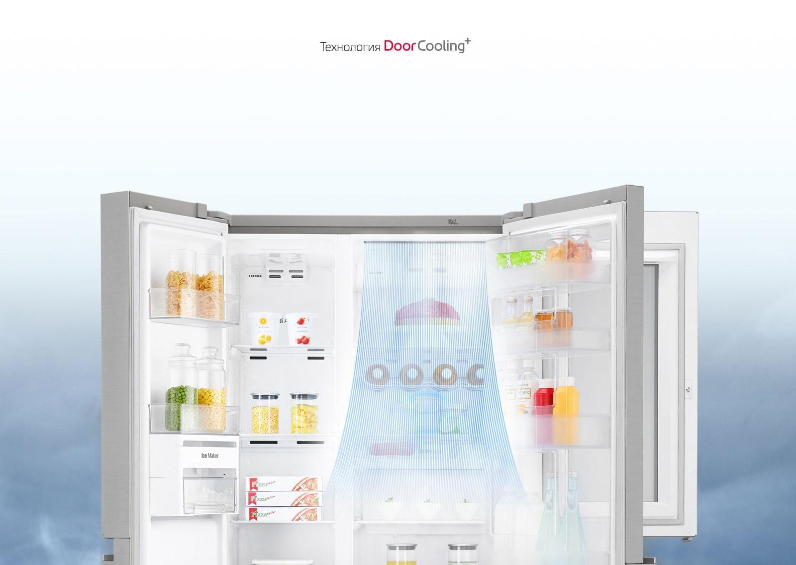 LG DoorCooling+ Быстрое и равномерное охлаждение