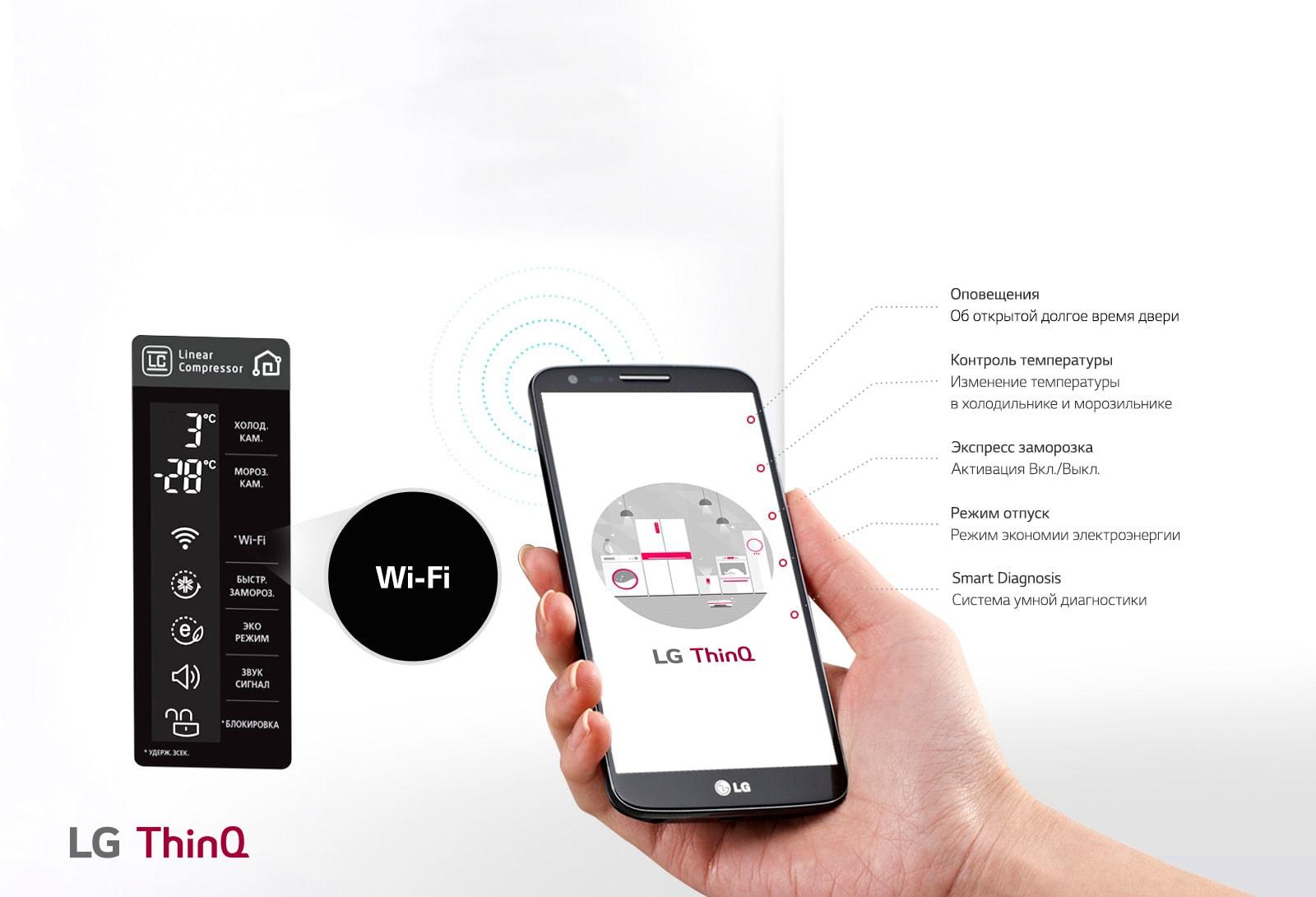 Wi-Fi c подключением к LG ThinQ1