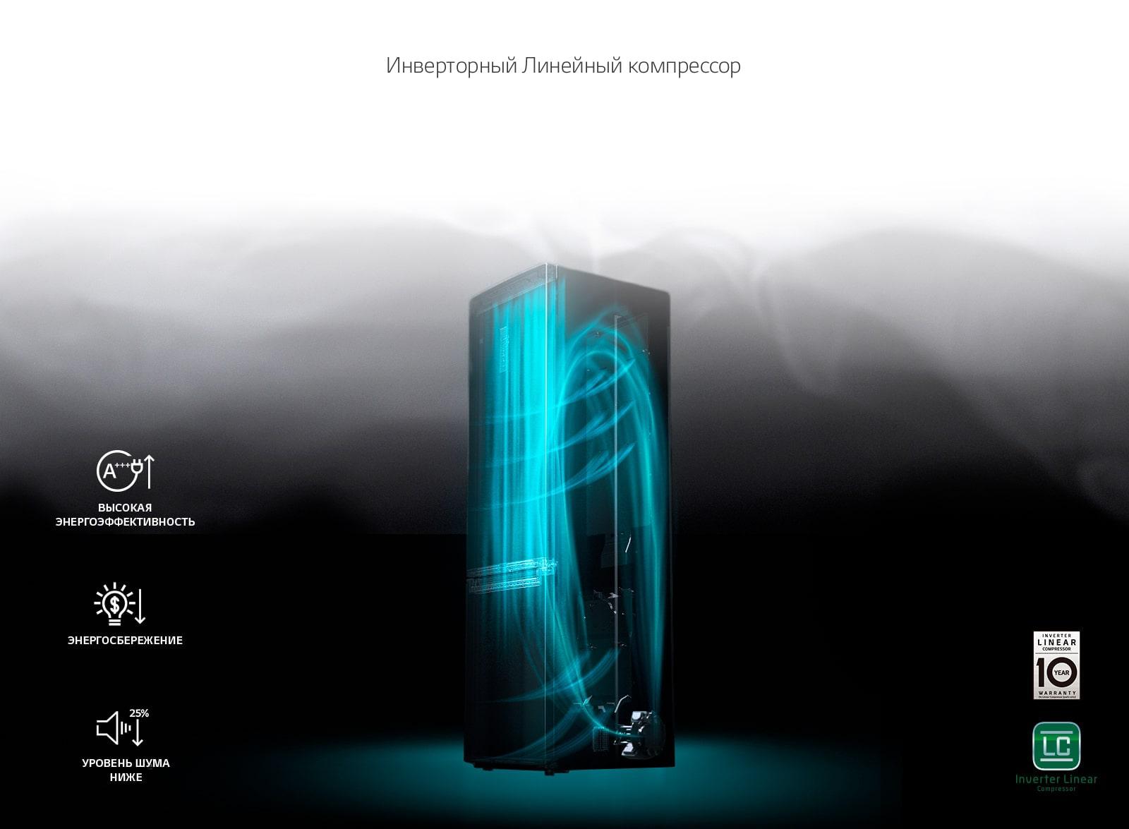 LG 10 лет гарантии на Линейный Компрессор