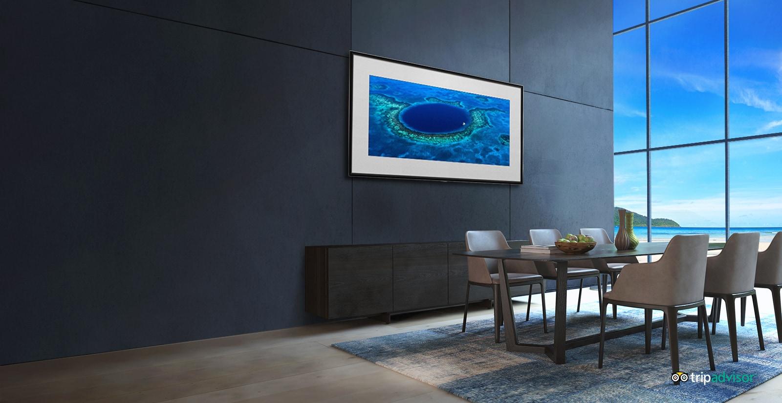 LG OLED W8 Погрузитесь в атмосферу отпуска с Режимом галереи