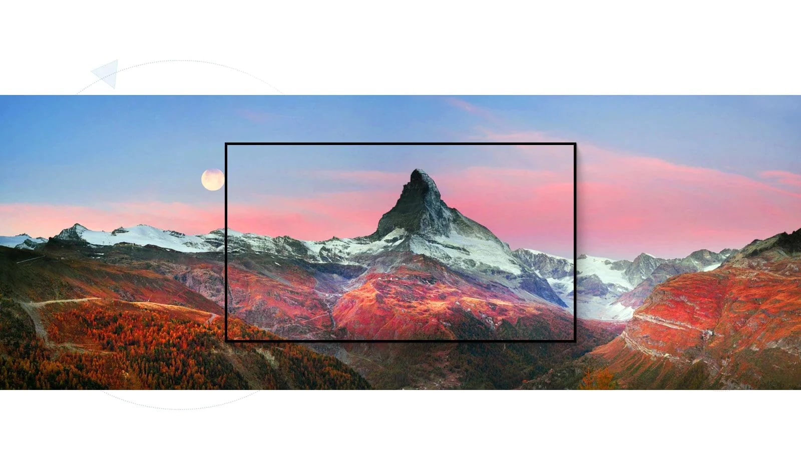 Кадр с великолепным горным пейзажем (просмотр видео)
