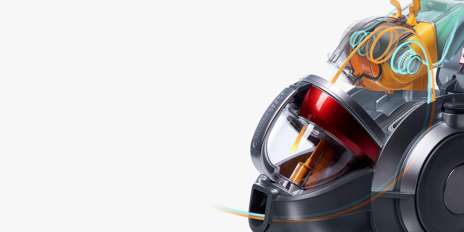 Система «Турбоциклон»: постоянно высокая мощность всасывания1