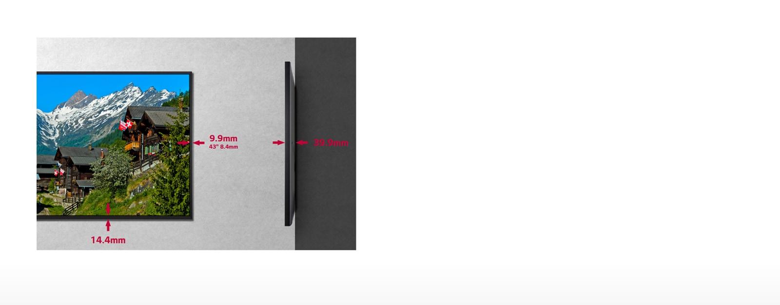 Узкая рамка и тонкая конструкция1