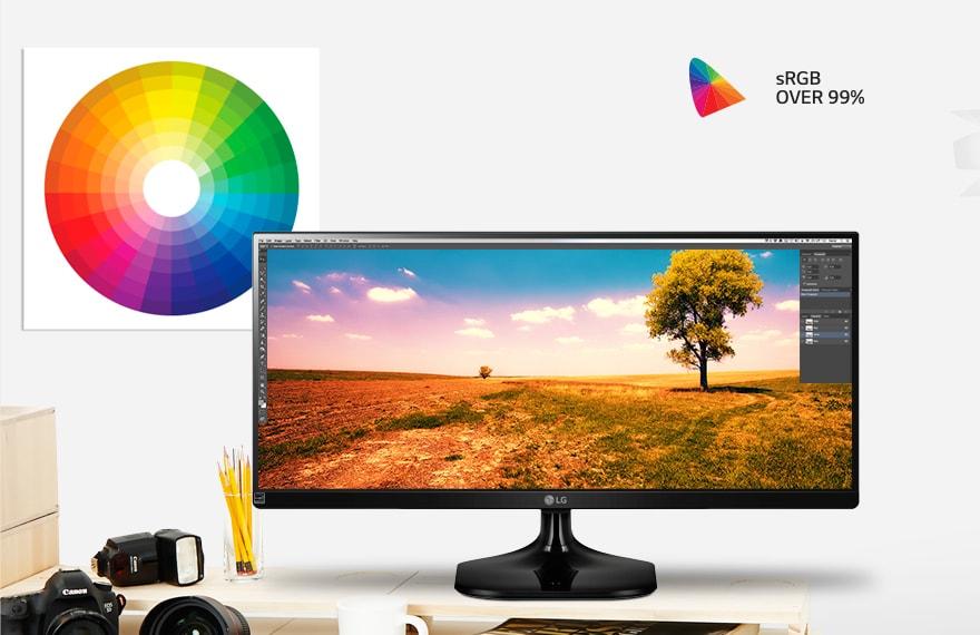 Поддержка >99% цветового поля sRGB