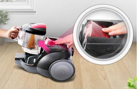 Легко использовать пылесборник