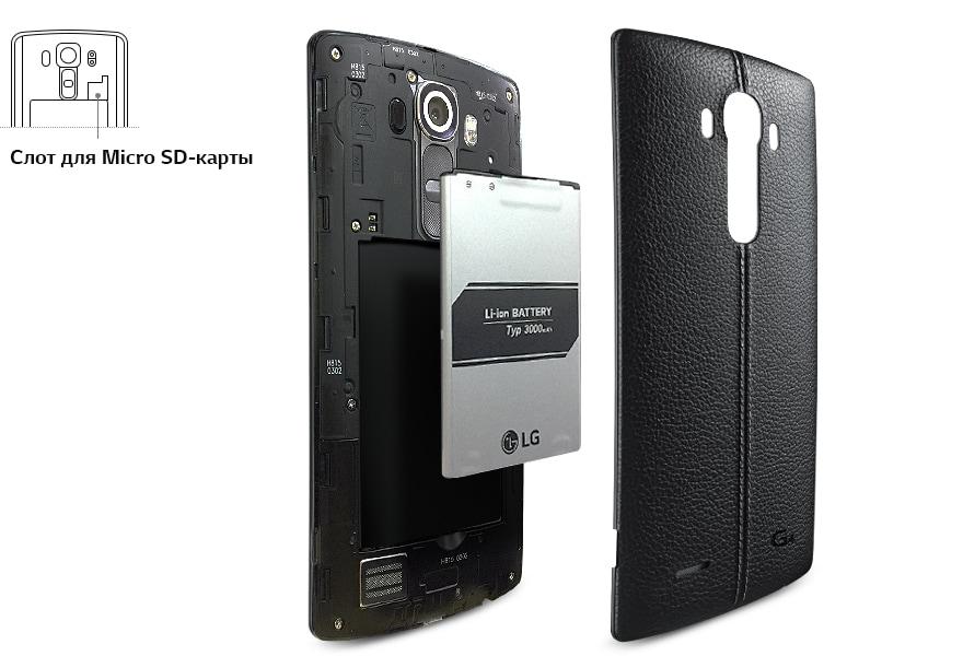 Съемный аккумулятор 3,000 мАч и слот для SD-карты