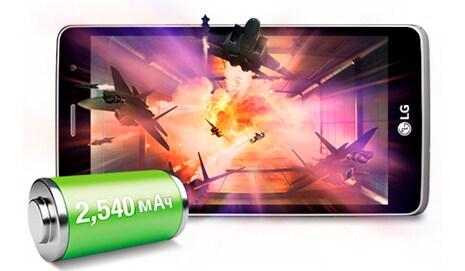 Батарея 2540 мАч и 4-ядерный процессор 1,3ГГц