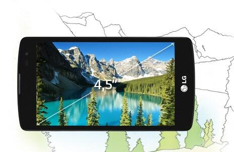 Дисплей True IPS 4,5 дюйма