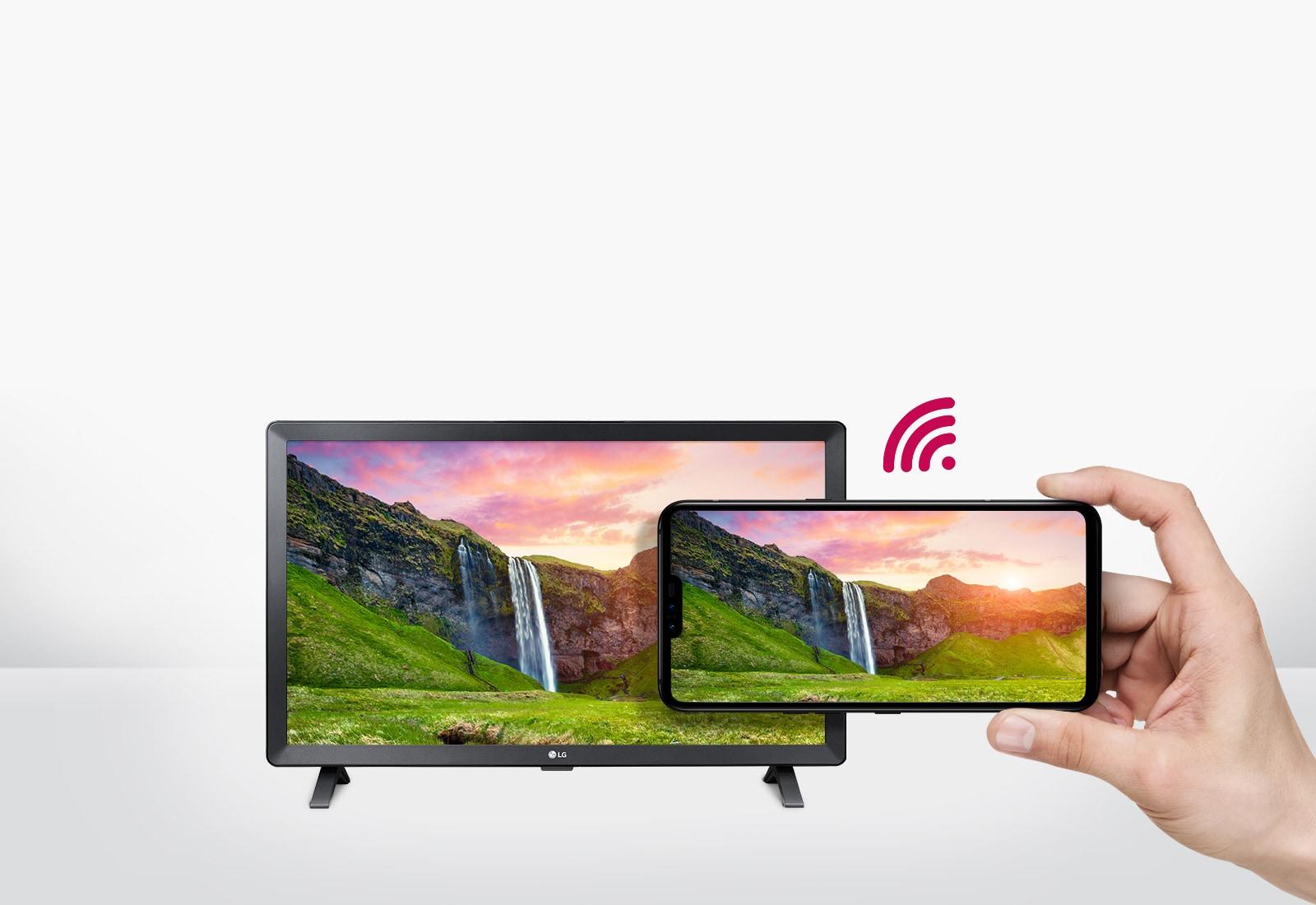 Встроенный Wi-Fi и беспроводное решение, такое как содержимое смартфона на большом экране