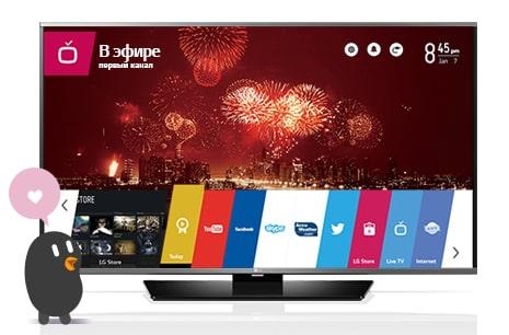 Удобное меню Smart TV
