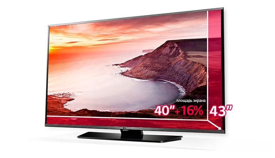Умный выбор с LG - получай +16% к площади экрана