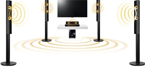 5.1-канальное звучание мощностью 1000 Вт