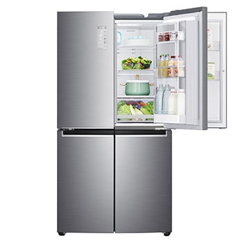 21.3 Cu.Ft, Multi Door  Refrigerator, Plantinum Silver Color , Door In Door, Hygiene Fresh+, Inverter Linear Compressor1
