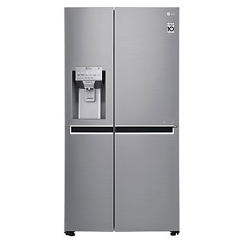 21.2  Cu.Ft, Side By Side Refrigerator , Plantinum Silver Color , Pocket Handle , Inverter Linear Compressor1