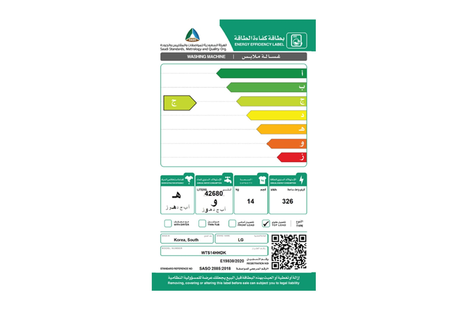 SASO Label