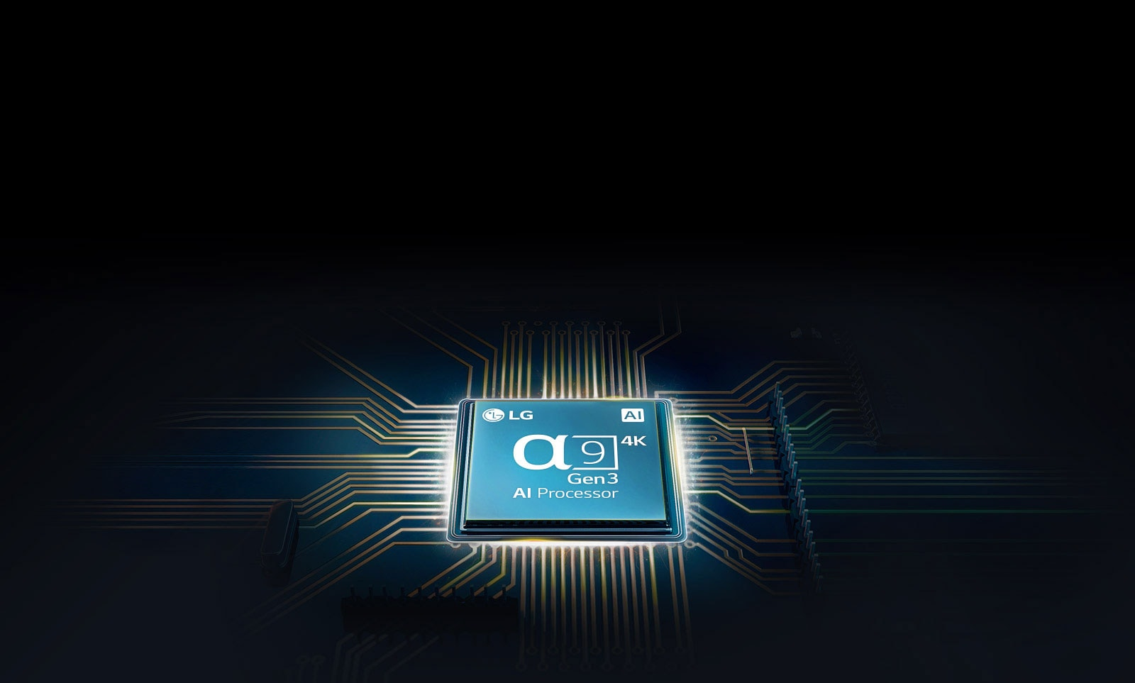 Alpha 9 chip mounted on a TV mainboard